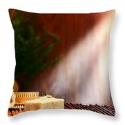 Spa Ambiance Throw Pillow by Olivier Le Queinec