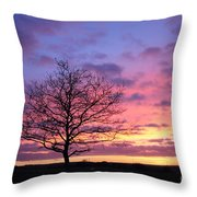 Spectacular Sunset Epsom Downs Surrey Uk Throw Pillow