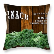 Spinach Patch Throw Pillow