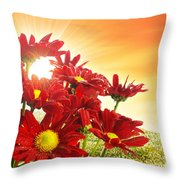 Spring Blossom Throw Pillow by Carlos Caetano