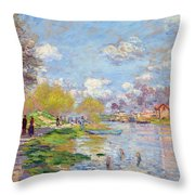 Spring By The Seine Throw Pillow
