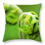 Spring Fern Throw Pillow