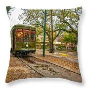 St. Charles Streetcar Throw Pillow