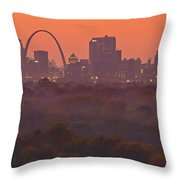 St Louis Skyline And Arch Throw Pillow