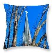 St. Marys Church Steeple Of St Marys Church Throw Pillow