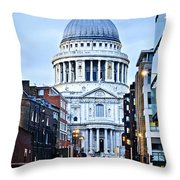 St. Paul's Cathedral London At Dusk Throw Pillow