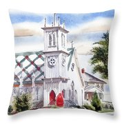 St Pauls Episcopal Church  Throw Pillow