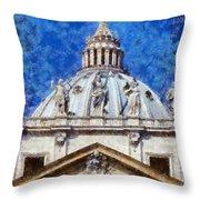 St Peter In Vatican Throw Pillow