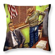 Stars Stripes And Exposure Throw Pillow