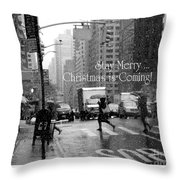 Stay Merry - Christmas Is Coming - Holiday And Christmas Card Throw Pillow