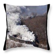 Steam At Scranton Throw Pillow