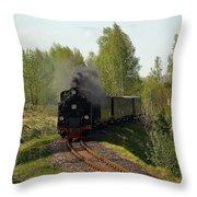 Steam Locomotive Throw Pillow