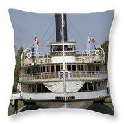 Steamboat Ticonderoga Throw Pillow