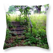 Steps To Yesterday Throw Pillow