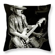 Stevie Ray Vaughan 1984 Throw Pillow
