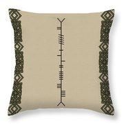 Stewart Written In Ogham Throw Pillow