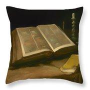 Still Life With Bible Throw Pillow