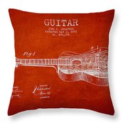 Stratton Guitar Patent Drawing From 1893 Throw Pillow