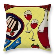 Strawberry Wine Throw Pillow