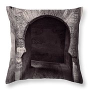 Street In Historic Albaycin In Granada Throw Pillow