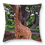 Stretching It Throw Pillow