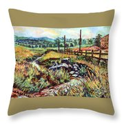 Stroubles Creek Throw Pillow