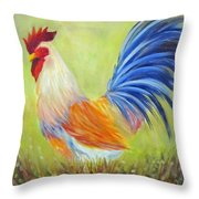Strutting My Stuff, Rooster Throw Pillow