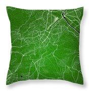 Stuttgart Street Map - Stuttgart Germany Road Map Art On Colored Throw Pillow