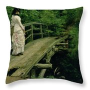 Summer Landscape Throw Pillow by Ilya Efimovich Repin