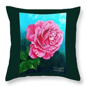 Summer Rose Throw Pillow