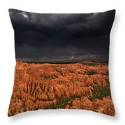 Summer Thunderstorm Bryce Canyon National Park Utah Throw Pillow