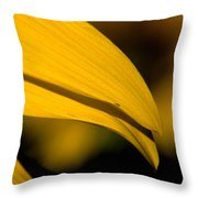 Sunflower Petals Throw Pillow