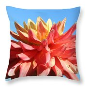 Sunny Center Throw Pillow