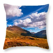 Sunny Day At Rest And Be Thankful. Scotland Throw Pillow