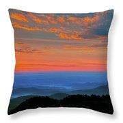 Sunrise Blue Ridge Parkway Throw Pillow