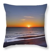 Sunrise Over Atlantic Ocean, Florida Throw Pillow