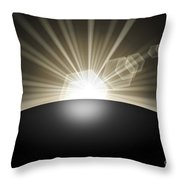 Sunrise Sunset Planet Throw Pillow