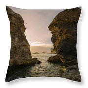 Sunset At Pismo Beach Throw Pillow