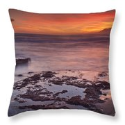 Sunset In Marbella Throw Pillow