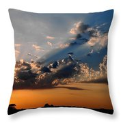 Sunset In Seaford Throw Pillow
