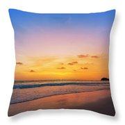 Sunset On Phiphi Island Throw Pillow