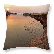 Sunset  River Panorama Throw Pillow