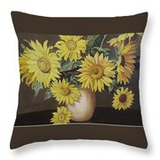 Sunshine And Sunflowers Throw Pillow
