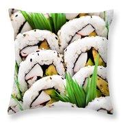 Sushi Platter Throw Pillow