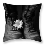 Sweat And Fire Worn Throw Pillow