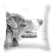 Sweet Puppy Throw Pillow