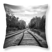 Switching Tracks Leaving Leafing Throw Pillow