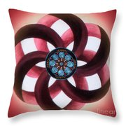 Synergy Mandala 3 Throw Pillow