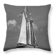 Tall Ship Harvey Gamage Throw Pillow