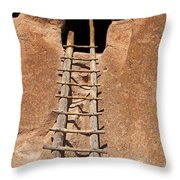 Talus House Front Door Bandelier National Monument Throw Pillow